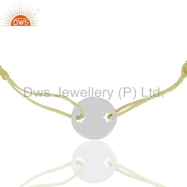 Yellow Macrame Adjustable Sterling 92.5 Silver Bracelet Manufacturers