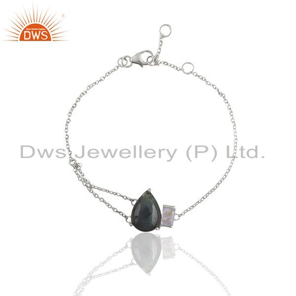 Rainbow Moonstone and Labradorite Gemstone Bracelet Manufacturers