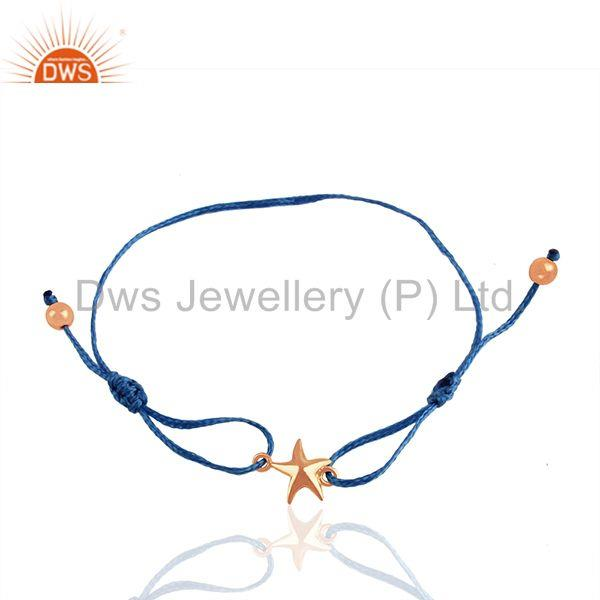 Rose Gold Plated Sterilng Silver Plain Star Charm Bracelet Suppliers