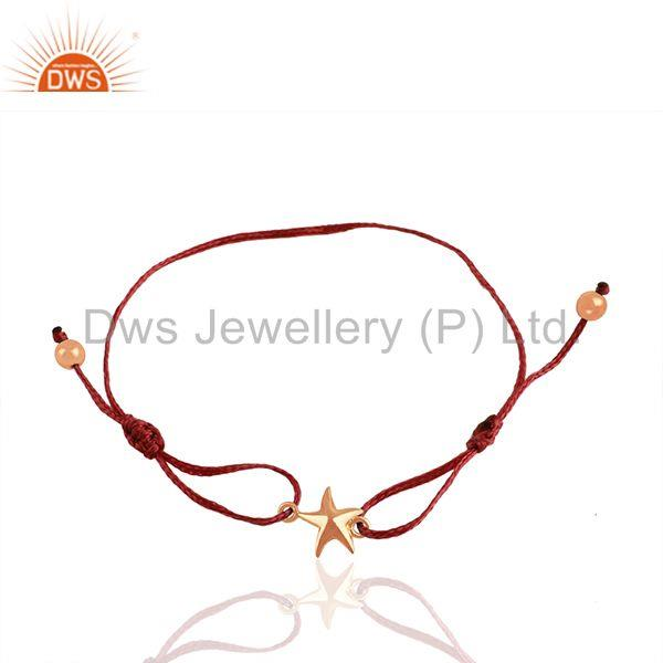 925 Silver Lucky Star Charm Rose Gold Plated Bracelet Manufacturers