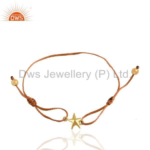 Handmade 925 Silver Gold Plated Lucky Star Charm Bracelet Wholesale