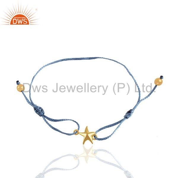 14k Gold Plated Sterling Silver Star Charm Lucky Bracelet Manufacturer
