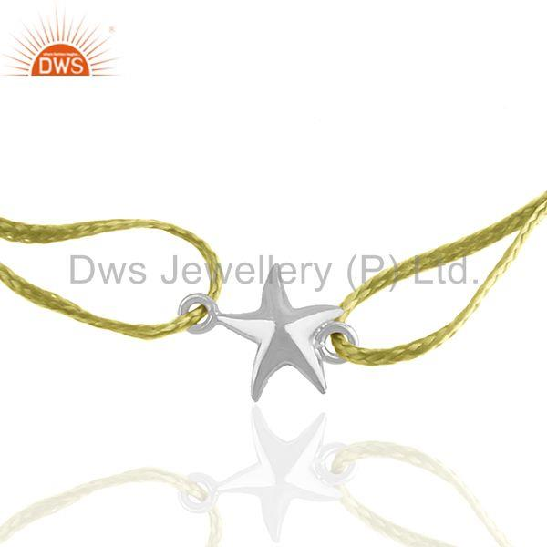 White Rhodium Plated 925 Silve Star Charm Bracelet Manufacturer