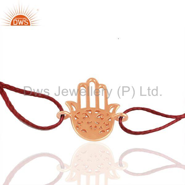 Hamsa Hand Lucky Charm Plain 925 Silver Bracelet Jewelry Manufacturer
