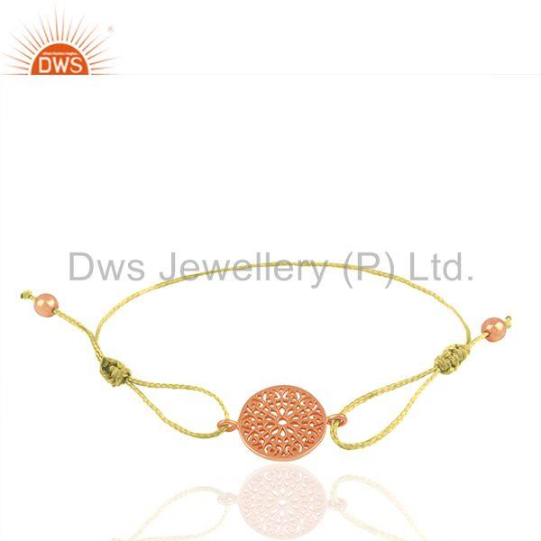 Rose Gold Plated Plain Silver Charm Bracelet Manufacturer of Jewelry