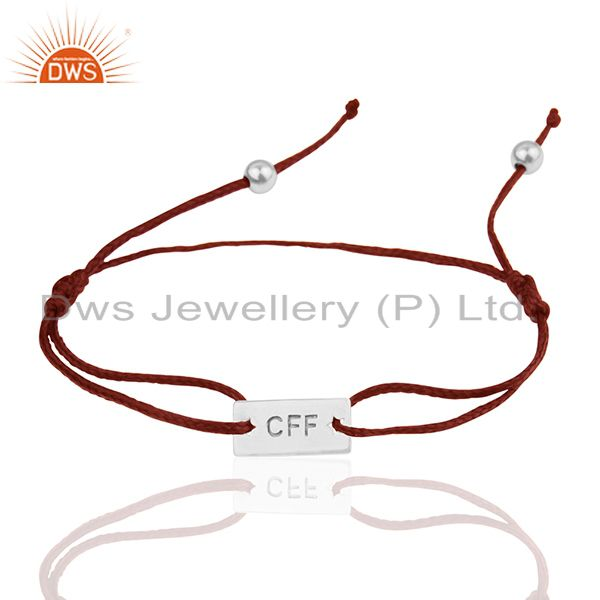 Indian Engraved 925 Silver Customized Adjustable Bracelet Manufacturer