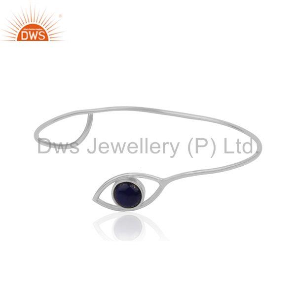 Handmade 925 Silver Evil Eye Design Cuff Bracelet Manufacturer of Custom Jewelry