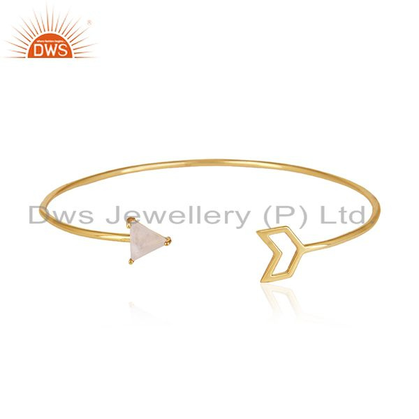 Buy Gold Plated Sterling Silver Arrow Cuff Bracelet Manufacturer for Designers