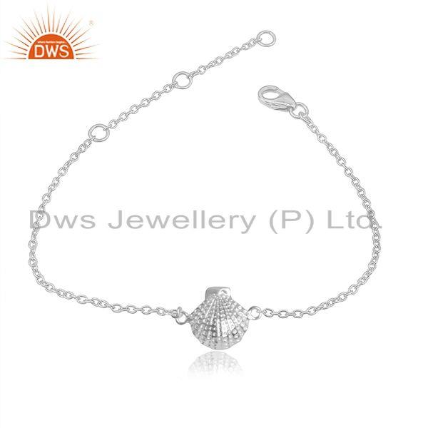 Shell Design 925 Sterling Silver Handmade Chain Bracelets Jewelry