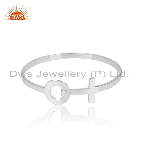 Handmade Designer Sterling Silver Openable Bangle