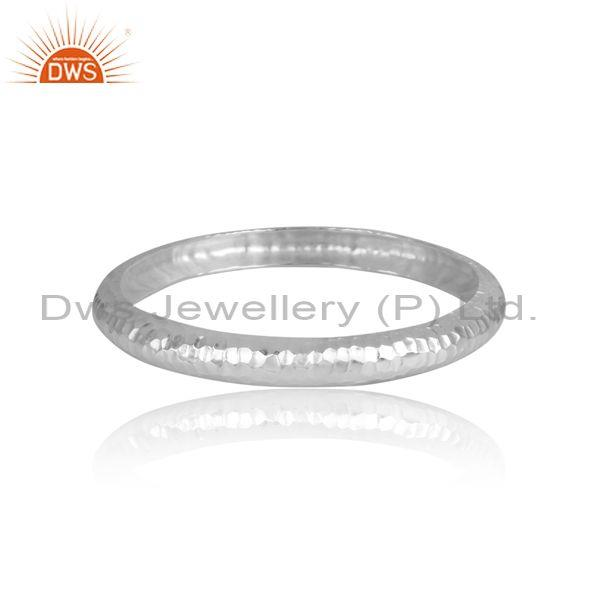 Handhammered Fine 925 Sterling Silver Textured Classy Bangle