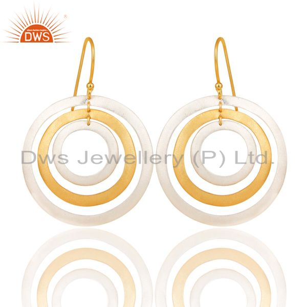 Silver and Gold Plated Brass Fashion Earrings Jewelry Manufacturer