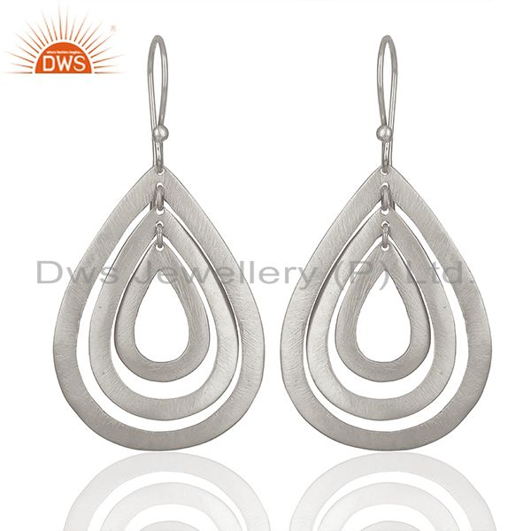 Handmade Silver Plated Brass Dangle Fashion Earrings Suppliers