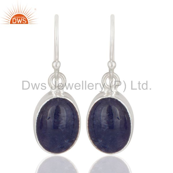 Handmade 925 Sterling Silver Natural Tanzanite Fine Gemstone Earrings
