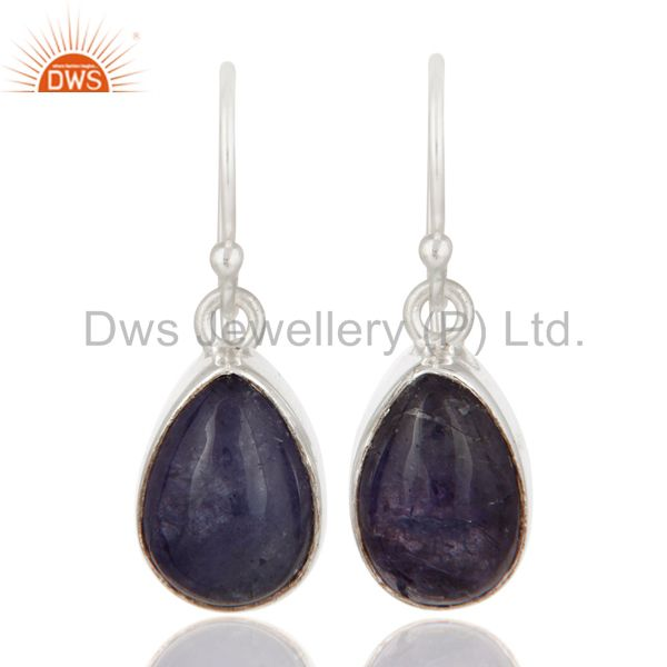Handmade Tanzanite Gemstone Earrings Made In Solid 925 Sterling Silver