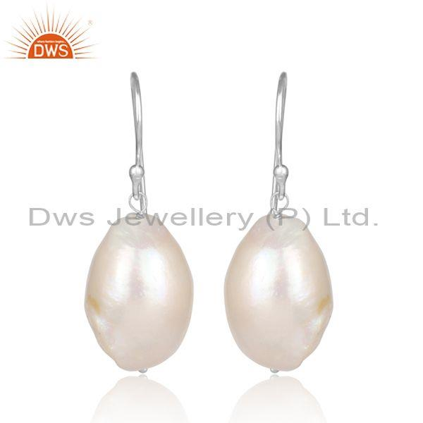 Pearl Set Fine Sterling Silver Handmade Statement Earrings
