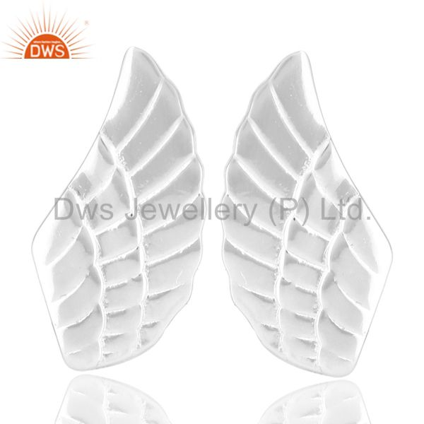 Solid 925 Sterling Silver Handmade Art Textured Design Studs Earrings