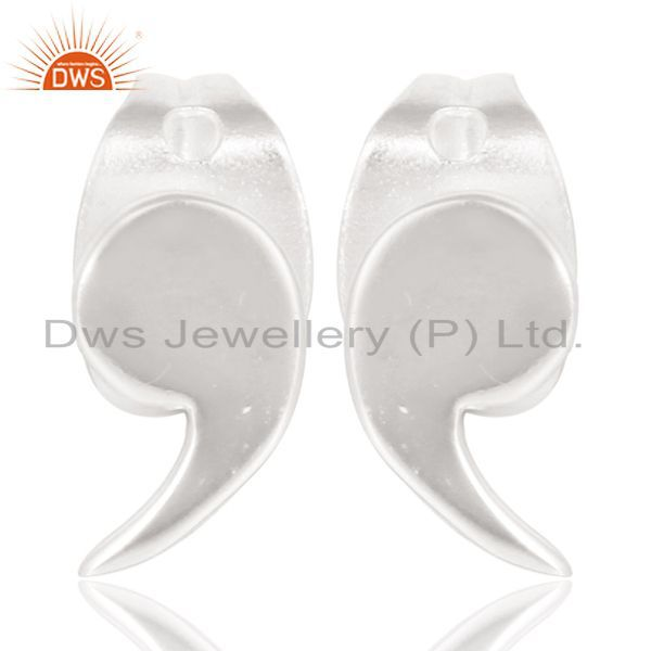 Solid 925 Sterling Silver Handmade Little Fashion Design Studs Earrings Jewelry
