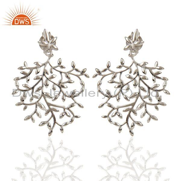 Customized Fine Sterling 92.5 Silver Designer Dangle Earring Manufacturer Jaipur