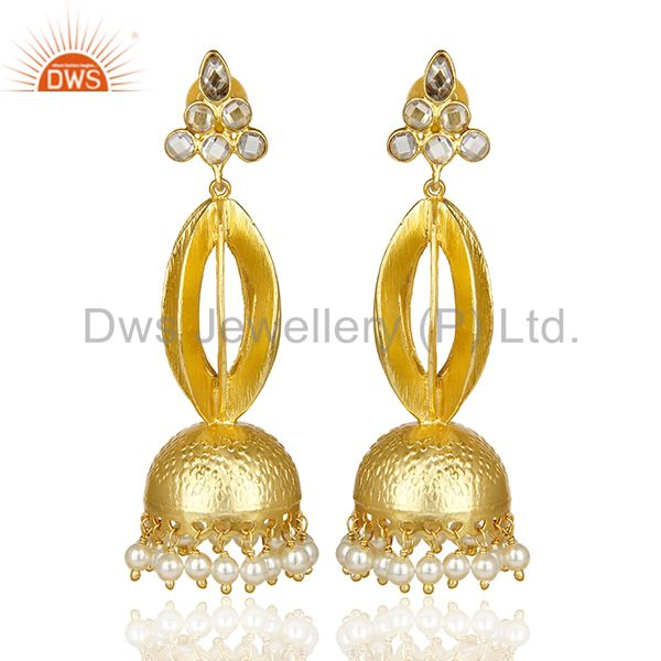 Gold Plated Silver Chendelier Earring Make For Some Lovely Indian Bridal Wear