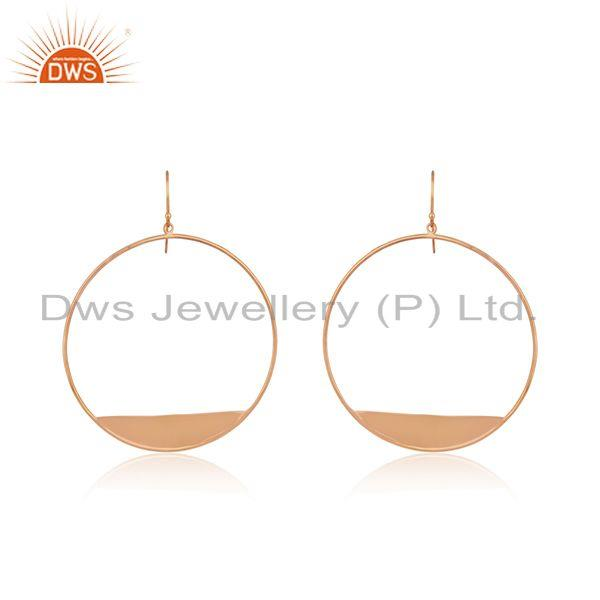 14k Rose Gold Plated 925 Silver Handmade Earrings Wholesale Suppliers