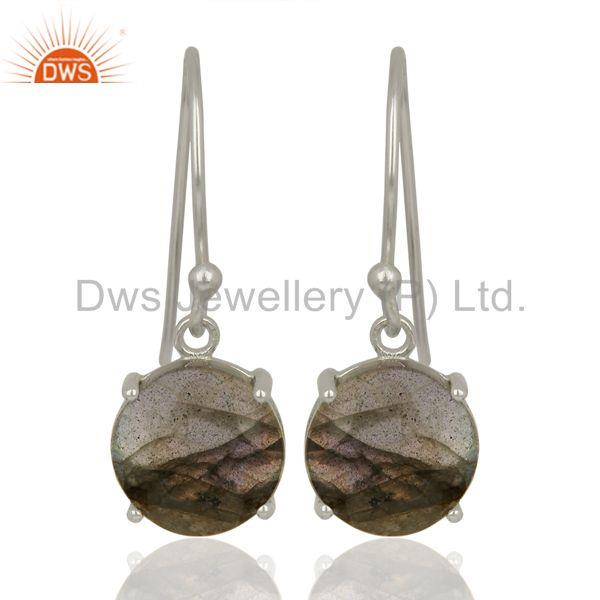 Labradorite Flat Shape Pefect Drop High Finish Wholesale Sterling Silver Earring