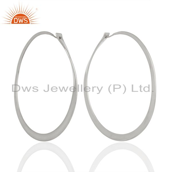 Wholesale Sterling Fine Silver Womens Hoop Earrings Jewelry Supplier