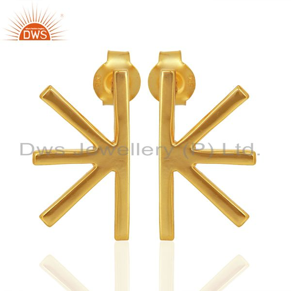 Wholesale Handmade Gold Plated 925 Sterling Silver Designer Earrings