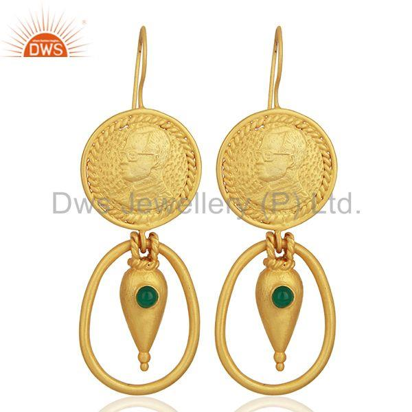Green Onyx Gemstone Green Onyx Gemstone Fashion Earrings Supplier
