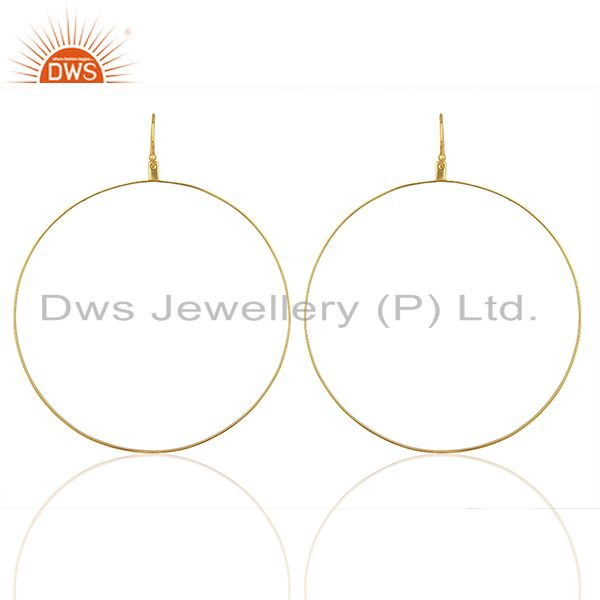 Gold Plated Circal Design Silver Girls Earring Jewelry Manufacturer