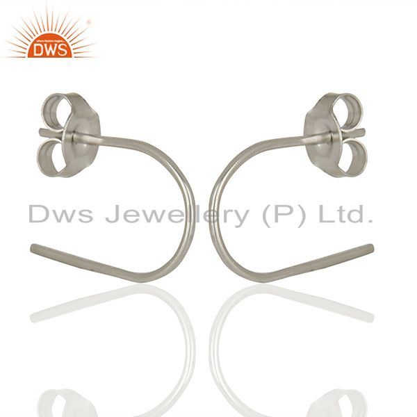 New Design Sterling Fine Silver Handmade Earrings Jewelry Wholesale