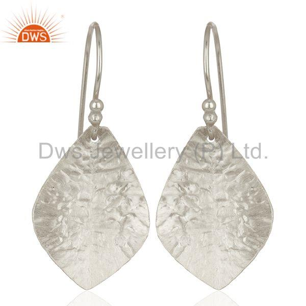 925 Sterling Fine Silver Textured Plain Silver Earrings Manufacturer