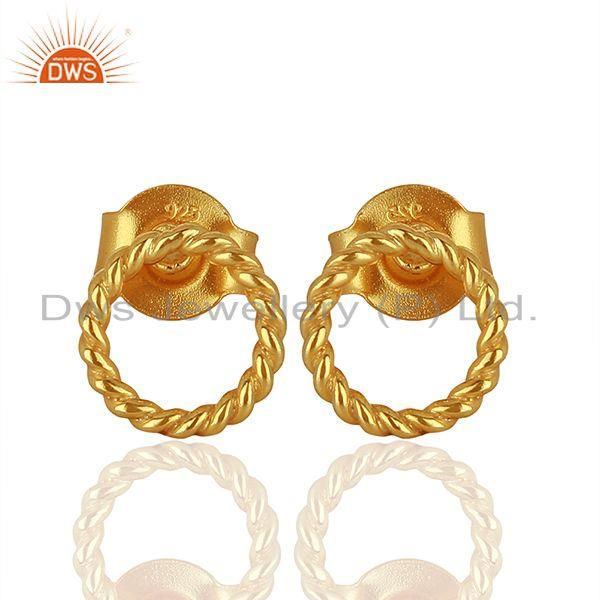 Handmade Gold Plated 925 Sterling Silver Girls Earrings Supplier