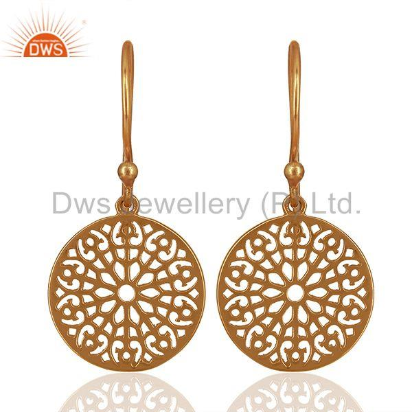 Round Gardens Inspired 92.5 Sterling Silver Rose Gold Plated Earring