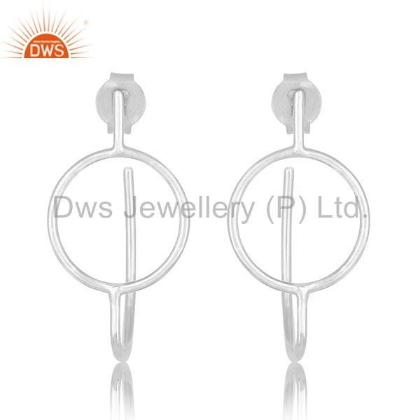 Handmade 925 Sterling Plain Silver Designer Custom Earring Jewelry Manufacturer