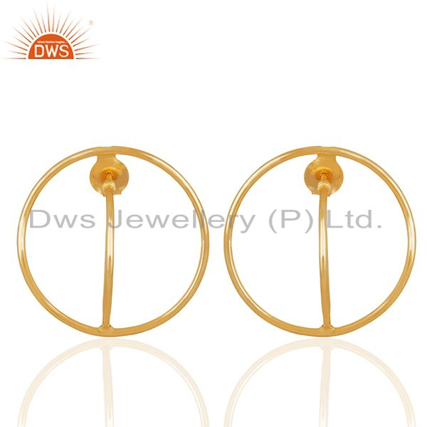 Simple Design Silver Gold Plated Plain Earrings Manufacturer