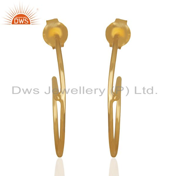 Small e Design 925 Sterling Silver Gold Plated Earrings Wholesale