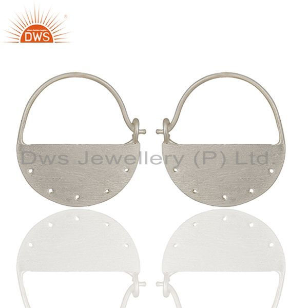 Solid Plain 925 Sterling Silver Handmade Earrings Jewelry Wholesale