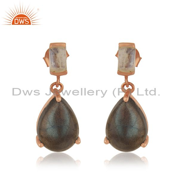 Handmade 925 Silver Gold Plated Natural Multi Gemstone Earrings Manufacturer