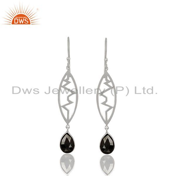 Hematite Heartbeat Collection Sterling Silver Earring