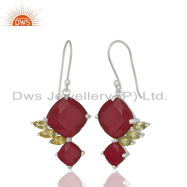 Handmade 925 Silver Multi Gemstone Girls Earrings Jewelry Wholesale