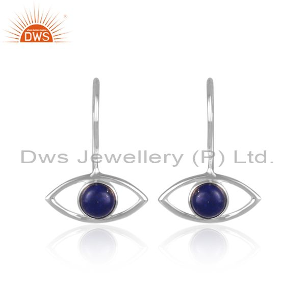 925 Silver Evil Eye Lapis Lazuli Gemstone Earrings Manufacturers