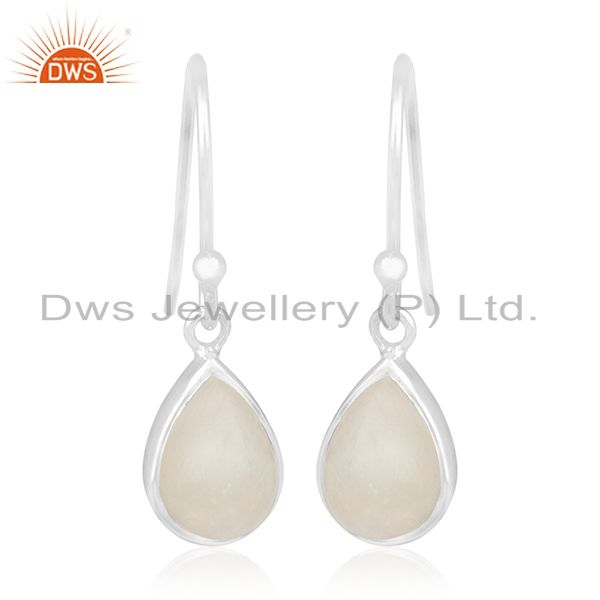 Rainbow Moonstone Sterling Silver Private Label Earring Jewelry Manufacturer
