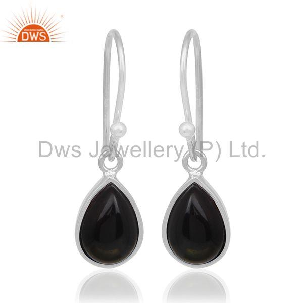 Handmade Sterling 92.5 Silver Black Onyx Gemstone Custom Earring Manufacturer