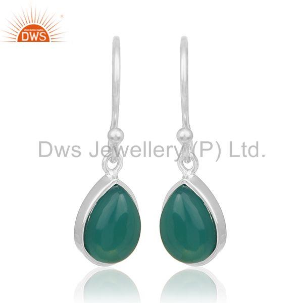 Green Onyx Gemstone 92.5 Silver Private Label Earring Manufacturer India