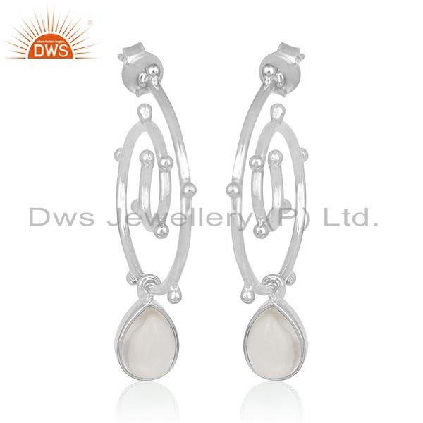Crystal Quartz Designer Handmade Sterling Silver Drop Earring Suppliers