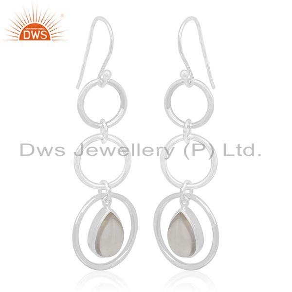 Crystal Quartz Private Label Sterling Silver Earring jewelry Manufacturers