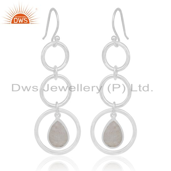 Buy Rainbow Moonstone Earrings Sterling Silver Girls Earring Jewelry Wholesale