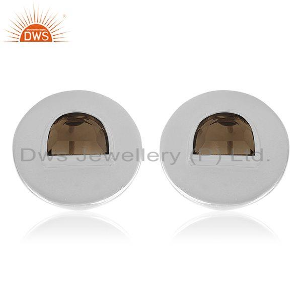 Handmade 925 Sterling Silver Round Stud Earrings Wholesale Suppliers