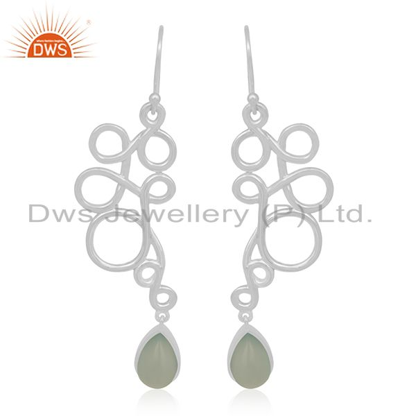 Handmade 925 Sterling Silver Gemstone Dangle Earring Manufacturer Jaipur india
